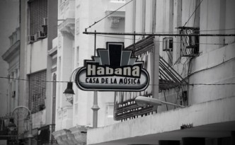 Sign from Salsa Club Casa De La Música in Havana
