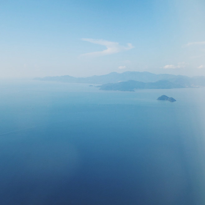 View from airplane over Penang Malaysia