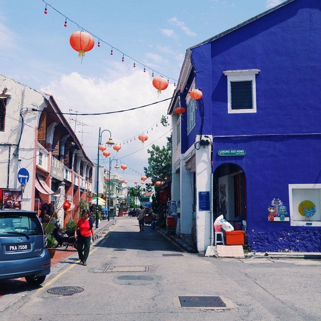 Purple house in George Town Malaysia